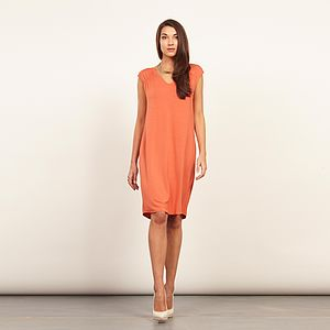 Luxe Drapey Back Dress - shop by colour: orange