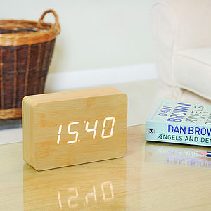 Brick Beech Click Clock - clocks