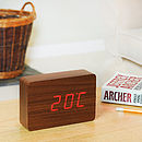 Walnut Brick Click Clock