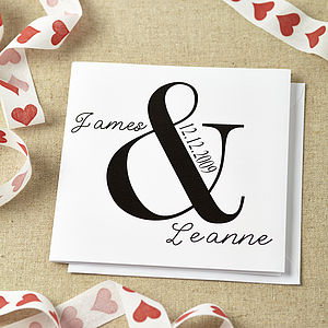 Personalised Ampersand Wedding Card