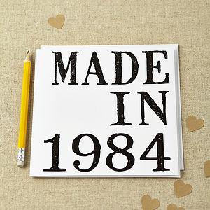 'Made In' Birthday Card - birthday cards