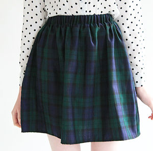 Lucy Tartan Skater Skirt - women's fashion