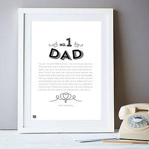 Number One Dad / Daddy Bespoke Art Print