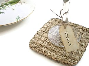 Personalised Wine Glass Name Tags - place cards