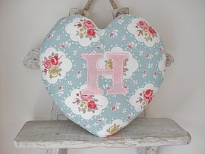 Personalised Handmade Flower Heart Cushion - baby & child