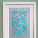 Silver card with Turquoise