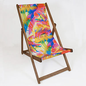 Ink Tropical Deckchair - garden furniture