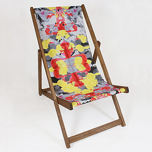 Ink Night Deckchair - garden furniture