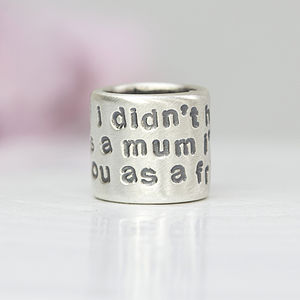 Mothers Day Silver Quote Charm