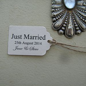 Personalised Just Married Favour Tags