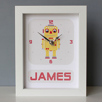 Yellow Robot Clock