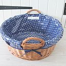 Oilcloth Lined Wicker Laundry Basket
