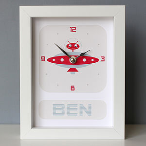 Personalised Framed Robot Clock - decorative accessories