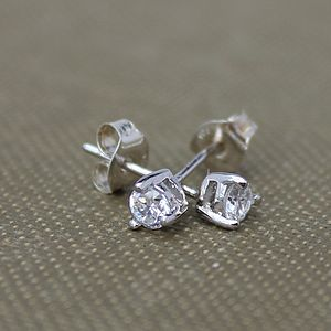 Teardrop Zirconia Stud Earrings - women's jewellery