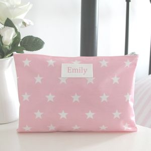 Personalised Star Cosmetic Bag - make-up & wash bags