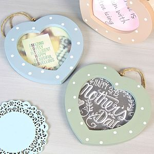 Polka Dot Heart Photo Frame - picture frames