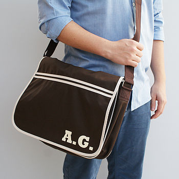 Personalised Retro Laptop Messenger Bag