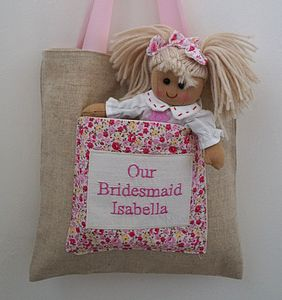 Bridesmaid Bag And Rag Doll Set