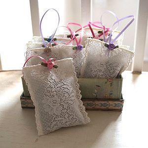 Lace Lavender Sachet - bedroom