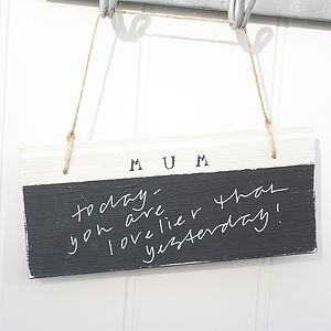 Personalised Chalkboard Sign