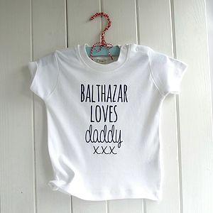 Knitti Kiss Personalised Organic Baby T Shirt