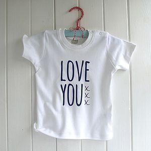 Baby's 'Knitti Love You Xxx' Organic T Shirt