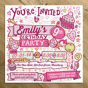 Personalised Child's Party Invitations - children's parties