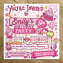 Personalised Child's Party Invitations