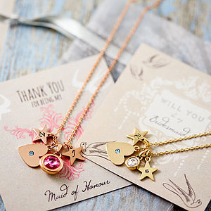 Design Your Own Personalised Heart Necklace - bridesmaid jewellery
