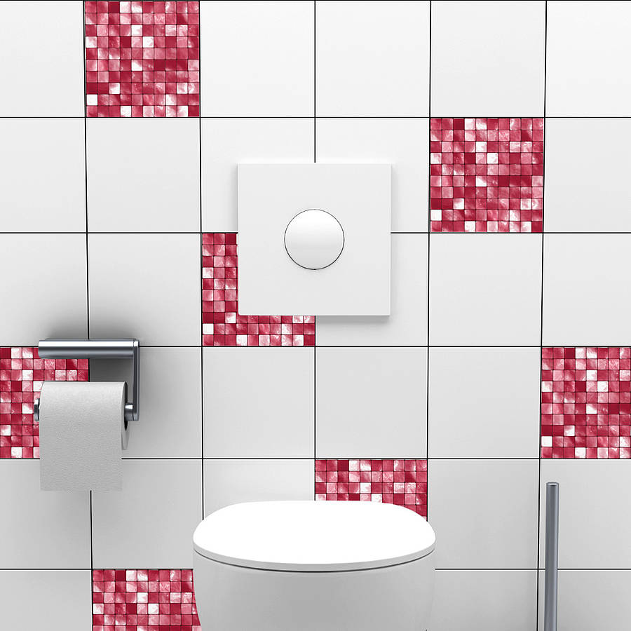 mosaic tile stickers by spin collective | notonthehighstreet.com