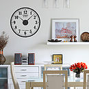 Distressed Personalised Clock Wall Sticker