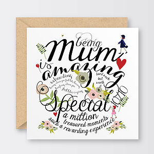 'Being Mum' Mother's Day Card