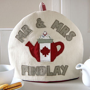Personalised Canadian Flag Tea Cosy
