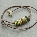 Green And Copper Moonchip Necklace