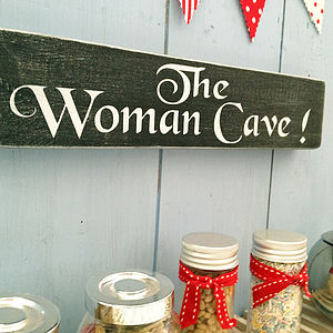 Mothers Gift The Woman Cave Plaque