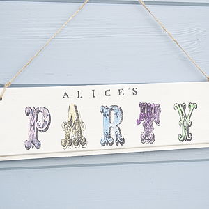 Party Sign - decorative accessories