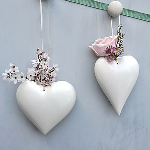 Ceramic Heart Vase - garden sale