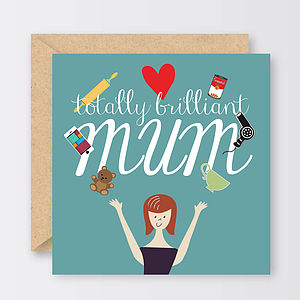 'Totally Brilliant Mum' Mother's Day Card - mother's day cards & wrap