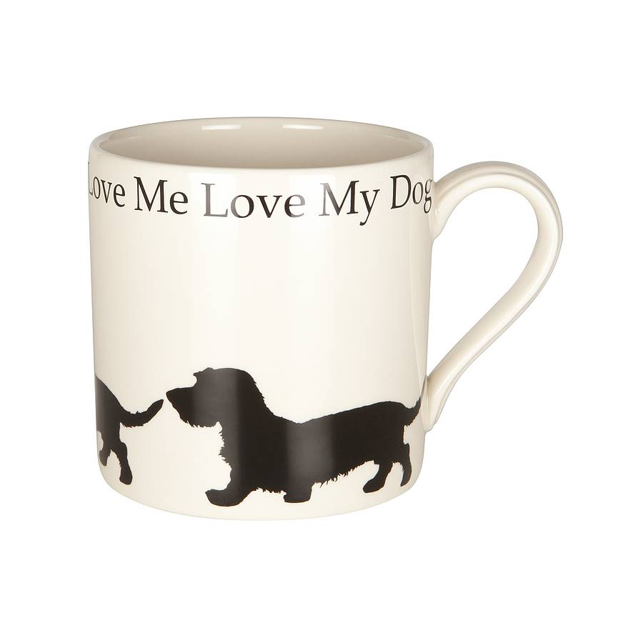 wire haired dachshund mug by victoria armstrong | notonthehighstreet.com