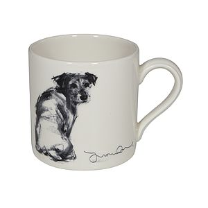'Over My Shoulder' Charcoal Mug - tableware