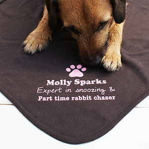 Personalised Pet Snuggle Blanket - beds & sleeping