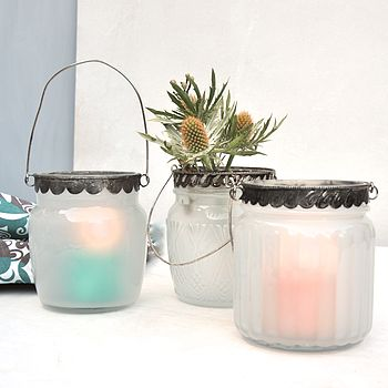 Silver Edge Candle Holder