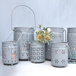 Metal Hurricane Lantern - lights & lanterns