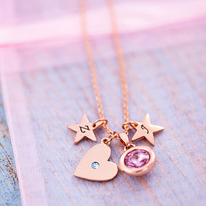 Design Your Own Personalised Heart Necklace - women's jewellery