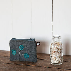 Little Teal Seed Head Purse - purses
