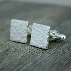 Personalised Recycled Silver Cufflinks - cufflinks