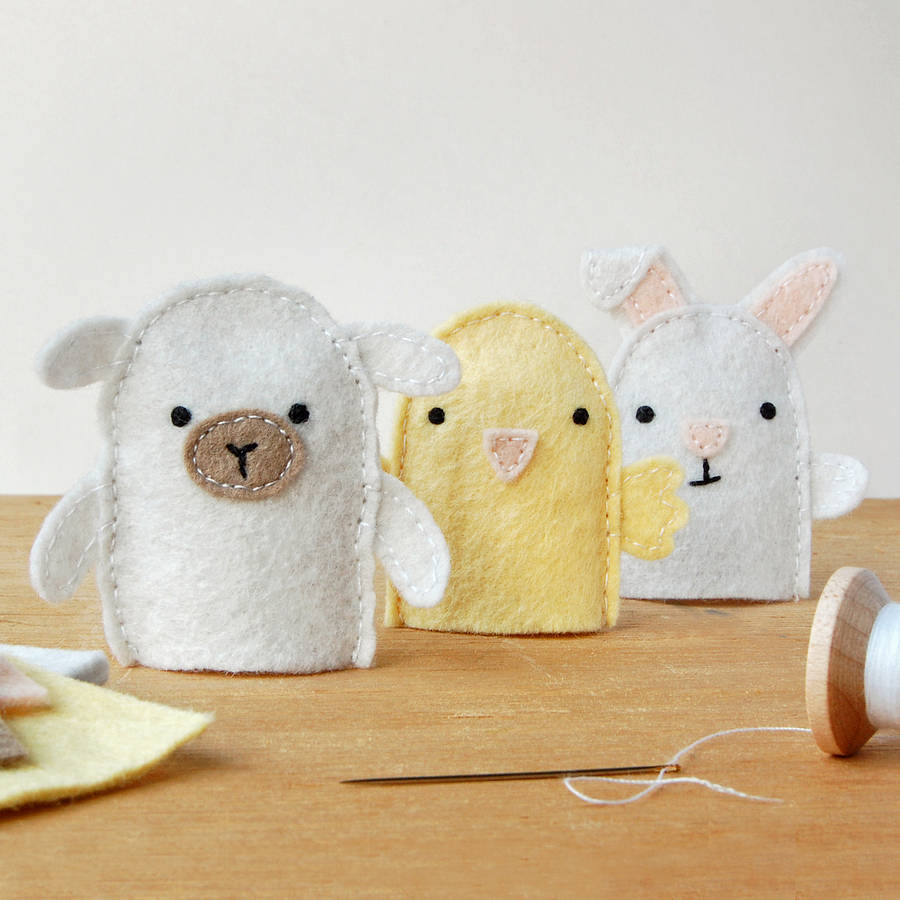 f7bc5a64cf72 Make Your Own Spring Finger Puppets Craft Kit · Simple Spring Animals Craft  Kit