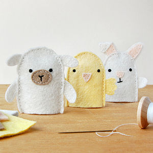 Make Your Own Spring Finger Puppets Craft Kit - easter toys & games