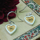Hearts Of Gold Silver Earrings
