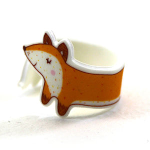 Fox Wraparound Ring - rings